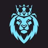 Λιοντάρι στη διανυσματική μασκότ κορωνών στοκ φωτογραφίες με δικαίωμα ελεύθερης χρήσης
