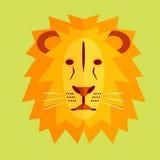 Λιοντάρι στο γεωμετρικό ύφος Στοκ φωτογραφία με δικαίωμα ελεύθερης χρήσης