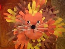 Λιοντάρι τέχνης παιδιών με τα χέρια Στοκ φωτογραφίες με δικαίωμα ελεύθερης χρήσης