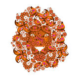 Λιοντάρι, το οποίο αποτελείται από τα λουλούδια Στοκ εικόνες με δικαίωμα ελεύθερης χρήσης