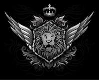 λιοντάρι 2 διακριτικών φτερωτό απεικόνιση αποθεμάτων