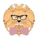 Λιοντάρι Hipster Στοκ φωτογραφία με δικαίωμα ελεύθερης χρήσης