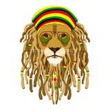Λιοντάρι Rasta Στοκ Φωτογραφία