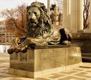 Λιοντάρι sculpture※ ένα είδος αρπακτικών θηλαστικών, η μεγαλύτερη γάτα στοκ φωτογραφίες