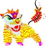 Λιονταριών διανυσματική απεικόνιση έτους χορού κινεζική νέα απεικόνιση αποθεμάτων