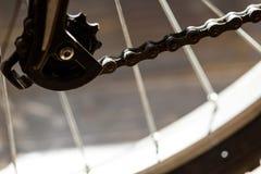 Λιπαρός επιλογέας εργαλείων αλυσίδων ποδηλάτων στοκ φωτογραφία