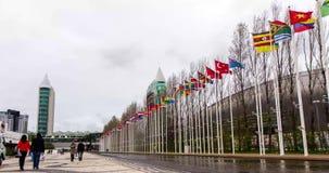 ΛΙΣΣΑΒΩΝΑ, ΠΟΡΤΟΓΑΛΙΑ - 21 ΑΠΡΙΛΊΟΥ: Πάρκο Timelapse 4K των εθνών στη Λισσαβώνα στις 21 Απριλίου 2016 στη Λισσαβώνα απόθεμα βίντεο