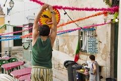 ΛΙΣΣΑΒΩΝΑ, ALFAMA, ΠΟΡΤΟΓΑΛΊΑ, γιορτή του ST Anthony Στοκ φωτογραφίες με δικαίωμα ελεύθερης χρήσης