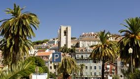 Λισσαβώνα, η παλαιά πόλη και ο καθεδρικός ναός στοκ φωτογραφία