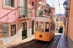 Λισσαβώνα Πορτογαλία, παλαιά πόλης τραμ Στοκ Φωτογραφίες