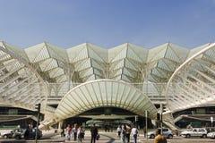 Λισσαβώνα Πορτογαλία, σιδηροδρομικός σταθμός Oriente Στοκ εικόνες με δικαίωμα ελεύθερης χρήσης