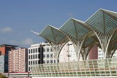Λισσαβώνα Πορτογαλία, σιδηροδρομικός σταθμός Oriente Στοκ Εικόνες