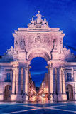 Λισσαβώνα, Πορτογαλία: η θριαμβευτική αψίδα Rua Αουγκούστα, Arco Triunfal DA Rua Αουγκούστα Στοκ φωτογραφία με δικαίωμα ελεύθερης χρήσης