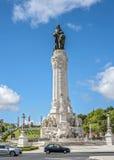 Λισσαβώνα Πορτογαλία Μνημείο στο μαρκήσιο Pombal Στοκ εικόνες με δικαίωμα ελεύθερης χρήσης