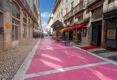 Λισσαβώνα Ρόδινη οδός Στοκ Φωτογραφίες