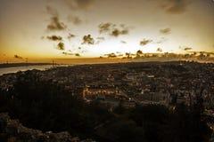 Λισσαβώνα στο ηλιοβασίλεμα Στοκ φωτογραφία με δικαίωμα ελεύθερης χρήσης
