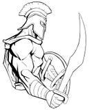 Λιτή μασκότ πολεμιστών απεικόνιση αποθεμάτων