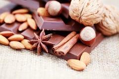 λιχουδιές σοκολάτας στοκ φωτογραφίες