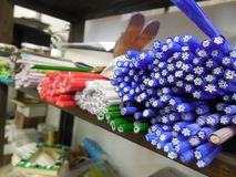 Λιώνοντας ράβδοι λουλουδιών γυαλιού Στοκ φωτογραφία με δικαίωμα ελεύθερης χρήσης