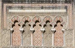 Λοβιώδη archs στο μουσουλμανικό τέμενος της Κόρδοβα, Ισπανία Στοκ Εικόνες