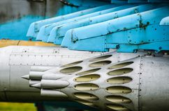 Λοβοί πυραύλων σε mi-24 Στοκ φωτογραφίες με δικαίωμα ελεύθερης χρήσης