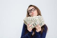 Λογαριασμοί εκμετάλλευσης γυναικών του δολαρίου Στοκ Φωτογραφία