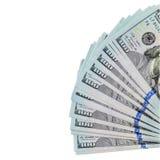 Λογαριασμοί δολαρίων που απομονώνονται πέρα από το λευκό Στοκ εικόνες με δικαίωμα ελεύθερης χρήσης