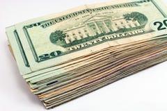 Λογαριασμοί δολαρίων Στοκ Φωτογραφίες