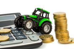 Λογιστική δαπανών στη γεωργία Στοκ φωτογραφία με δικαίωμα ελεύθερης χρήσης