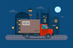 Λογιστική διανυσματική απεικόνιση φορτίου μεταφορών παράδοσης διανυσματική απεικόνιση
