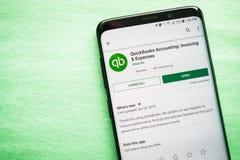 Λογιστική QuickBooks: Τιμολόγηση & δαπάνες App στοκ εικόνα