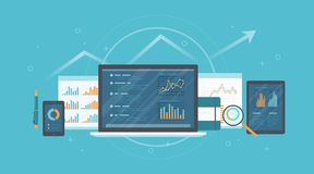 Λογιστικός έλεγχος, έρευνα, λογιστική, έννοια ανάλυσης Ιστός και σε απευθείας σύνδεση κινητή υπηρεσία Έγγραφα, γραφικές παραστάσε ελεύθερη απεικόνιση δικαιώματος