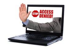 Λογοκρισία Διαδικτύου Στοκ Εικόνα