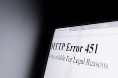 Λογοκρισία στο διαδίκτυο Στοκ Φωτογραφίες