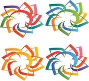 Λογότυπα ήλιων Στοκ εικόνες με δικαίωμα ελεύθερης χρήσης