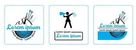 Λογότυπα για τους καλλιτέχνες, δημιουργικές ενώσεις Στοκ Εικόνα