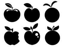 λογότυπα εικονιδίων μήλ&omeg Στοκ εικόνα με δικαίωμα ελεύθερης χρήσης