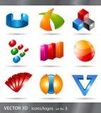 λογότυπα εικονιδίων που τίθενται Στοκ φωτογραφία με δικαίωμα ελεύθερης χρήσης