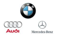 Λογότυπα εμπορικών σημάτων της BMW Audi Mercedes Στοκ φωτογραφία με δικαίωμα ελεύθερης χρήσης