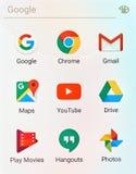 Λογότυπα εφαρμογών Google Στοκ εικόνα με δικαίωμα ελεύθερης χρήσης