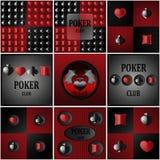 Λογότυπα και υπόβαθρα για το πόκερ Στοκ Εικόνες