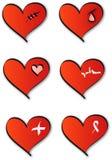 λογότυπα καρδιών ιατρικά Στοκ Εικόνα