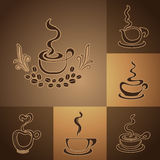 Λογότυπα καφετεριών στοκ φωτογραφία με δικαίωμα ελεύθερης χρήσης