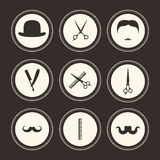 Λογότυπα κουρέων διανυσματική απεικόνιση