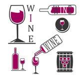 Λογότυπα κρασιού Στοκ φωτογραφίες με δικαίωμα ελεύθερης χρήσης