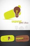 Λογότυπα οργανικής τροφής Στοκ φωτογραφία με δικαίωμα ελεύθερης χρήσης