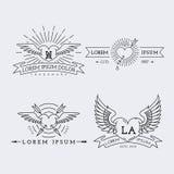Λογότυπα περιλήψεων καθορισμένα Στοκ Εικόνα