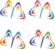 Λογότυπα πεταλούδων Στοκ Φωτογραφία
