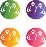 Λογότυπα πεταλούδων Στοκ Εικόνα
