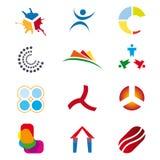 λογότυπα που τίθενται Στοκ Φωτογραφίες